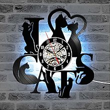 Cheemy Joint Chats Horloge Murale 12 Pouces LED