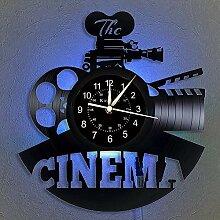 Cheemy Joint Cinéma Vinyle Record Horloge Murale