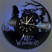Cheemy Joint Horloge Murale à Disque Vinyle Alice
