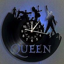 Cheemy Joint Horloge Murale de Disque Vinyle Queen