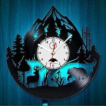 Cheemy Joint Horloge Murale Vinyle Sauvage Animal