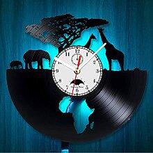 Cheemy Joint Safari Animaux Vinyle Record Horloge