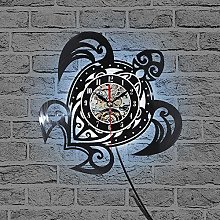 Cheemy Joint Tortue Horloge Murale 12 Pouces LED