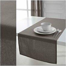 Chemin de table 100% coton mastic 50x150cm