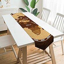 Chemin de table 177,8 x 33 cm - Grande carte du