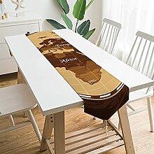 Chemin de table 228,6 x 33 cm - Grande carte du