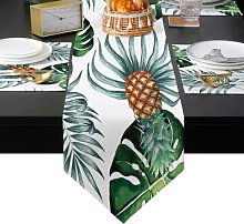 Chemin de Table de vacances, feuilles tropicales,