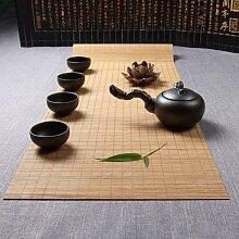 Chemin de Table en bambou, napperon, tapis de