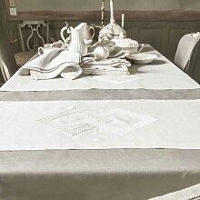 Chemin de table en lin ALCHIMIE en lin Promo 30%