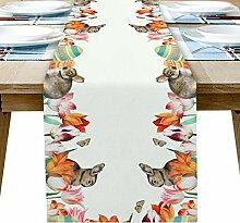 Chemin de table en toile de jute 33 x 177,8 cm,