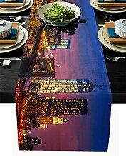 Chemin de table en toile de jute - 35,6 x 183,9 cm