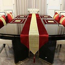 Chemin de Table luxueux en fausse soie, imitation