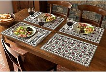 Chemin de table ou Sets de table mauresque, Sets