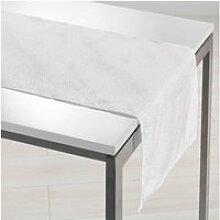 Chemin de table shantung applique scintille blanc