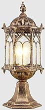 CHENJIA Vintage Anti-Rouille Pilier Lanterne
