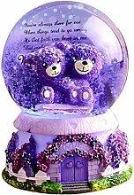 CHENSTAR Boule à neige musicale Boule de cristal