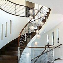 Chents Escalier Lustres Boule De Verre Multi