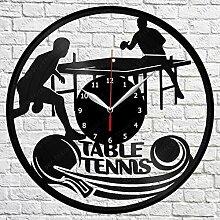 CHENWN Tennis de Table Vinyle Record Horloge