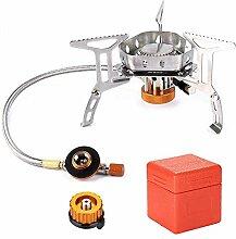 chenxiaspindes Mini réchaud à gaz pliable avec