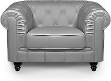 CHESTERFIELD - Fauteuil chesterfield gris