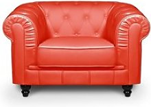 Chesterfield - fauteuil chesterfield rouge
