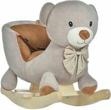 Cheval à bascule jouet à bascule ourson fauteuil