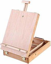 Chevalet de boîte à croquis de table en bois