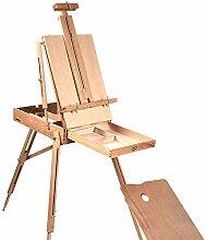 Chevalet Peinture Câblée en bois Portable Pliage