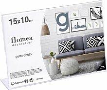 Chevalet Porte-photo display 15x10cm Transparent -