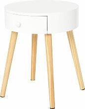 Chevet table de nuit ronde design scandinave