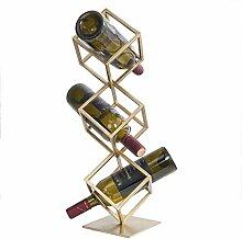 CHGDFQ Casier à vin doré   Étagère à vin sur