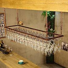 CHGDFQ Étagère à vin à suspendre pour verres
