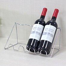 CHGDFQ Étagère à vin décorative en acier