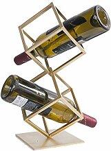 CHGDFQ Étagère à vin dorée   Étagère à vin