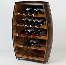 CHGDFQ Étagère à vin en bois massif -