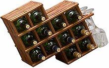 CHGDFQ Étagère à vin en bois massif pour