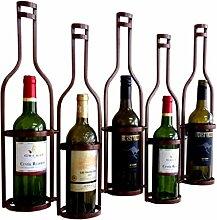 CHGDFQ Étagère à vin en fer forgé à suspendre