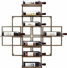 CHGDFQ Étagère à vin murale à suspendre en