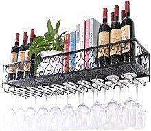 CHGDFQ Étagère à vin murale à suspendre pour