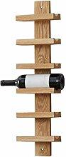 CHGDFQ Étagère à vin murale en bois massif 18,2
