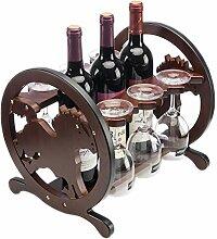 CHGDFQ Étagère à vin pour verres à pied