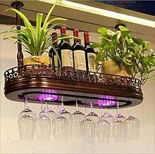 CHGDFQ Étagère à vin/support à verres à vin