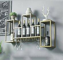 CHGDFQ Étagère à vin / support de verre /