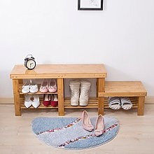 CHGDFQ Tabouret en bambou pour chaussures en bois