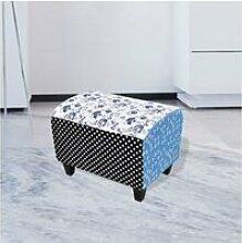 Chic meubles riga tabouret patchwork ottoman avec