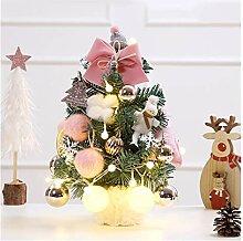 CHICAI Arbre de Noël rose Bow Mini Noël Tabletop