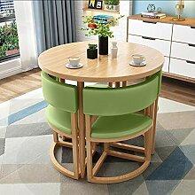 CHICAI Petite table ronde pour appartement et