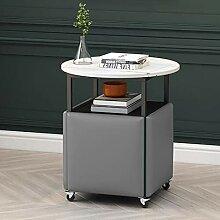 CHICAI Table ronde moderne - 5 pièces - Table de