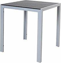 Chicreat - Table en aluminium avec plateau en