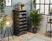 Chiffonnier 7 tiroirs style industriel - Irina